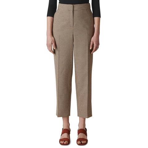 WHISTLES Red/Multi Kate Classic Check Trousers
