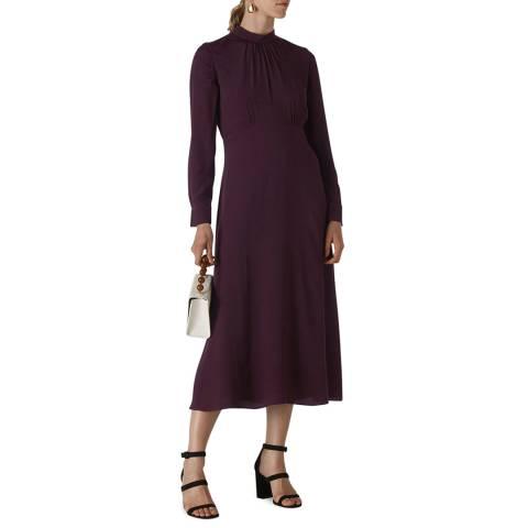 WHISTLES Plum Ruby Dress
