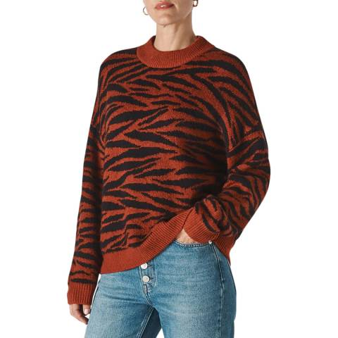 WHISTLES Tiger Stripe Intarsia Jumper