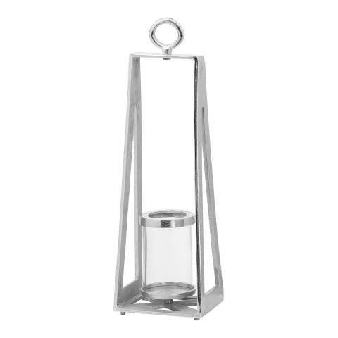Hill Interiors Ohlson Silver Large Tea Light lantern