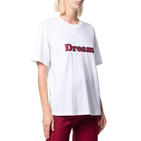 VICTORIA, VICTORIA BECKHAM White/Red Dream Cotton T-shirt