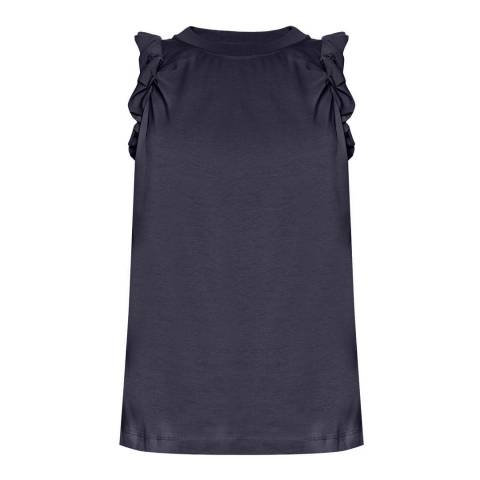 VICTORIA, VICTORIA BECKHAM Midnight Sleeveless Twist Tee
