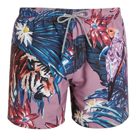 Ted Baker Multi Nemor Tiger Printed Swim Short