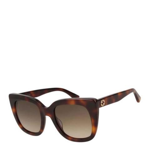 Gucci Women's Brown Gradient Gucci Sunglasses 51mm