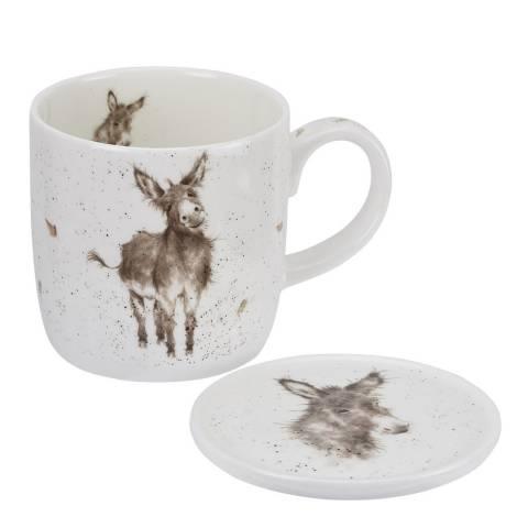 Royal Worcester Donkey Gentle Jack Mug & Coaster