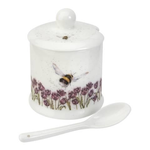 Royal Worcester Bumble Bee Conserve Pot