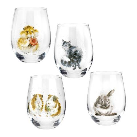 Royal Worcester Set of 4 Domestic Animals Tumblers