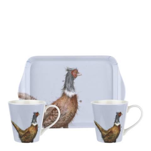 Royal Worcester Pheasant Mug & Tray set
