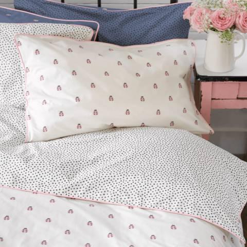 Anorak Ladybirds Double Duvet Cover Set, White