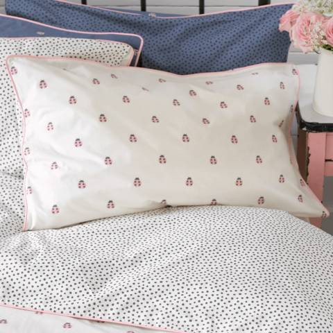 Anorak Ladybirds Housewife Pillowcase, White