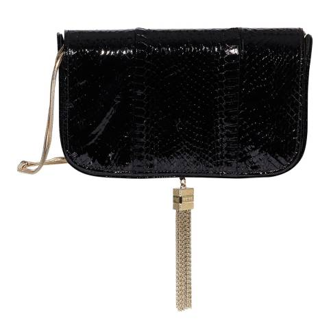 Reiss Black Vienna Snake Crossbody