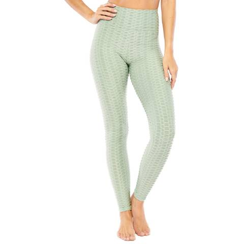 Electric Yoga Green Textured Peach Leggings