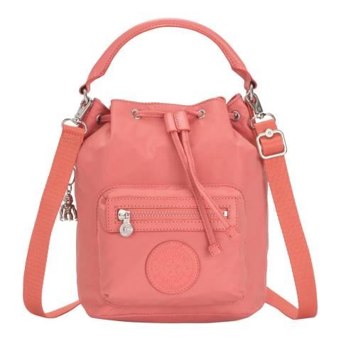 Kipling Coral Pink Violet Small Paka Shoulder Bag