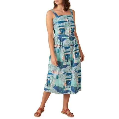 Emily and Fin Blue Midi Liana Dress
