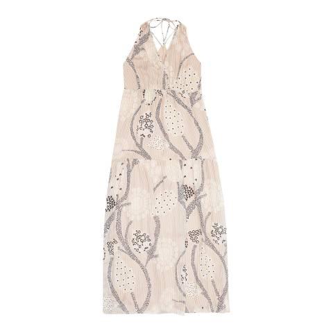 Reiss Nude Freddie Paisley Maxi Dress