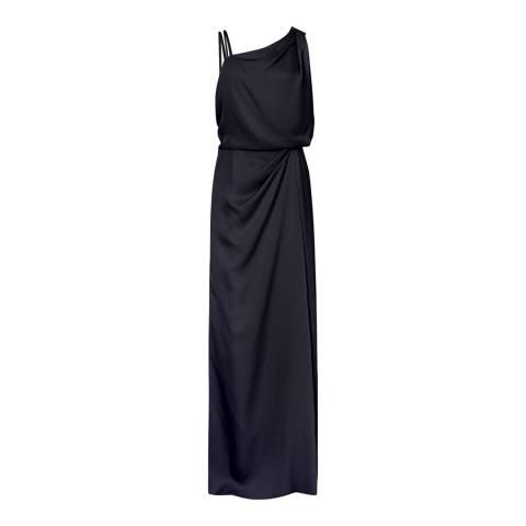 Reiss Navy Ostia Maxi Dress