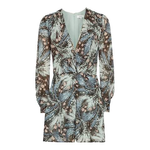 Reiss Multi Alena Grass Print Playsuit