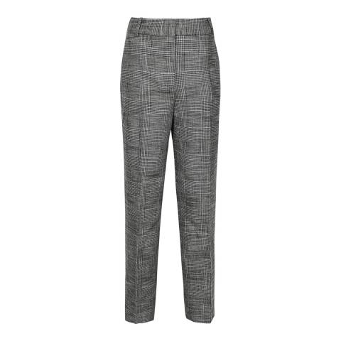 Reiss Grey Issa Fine Check Slim Trousers