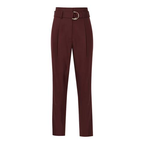 Reiss Berry Blythe Belted Wool Trousers