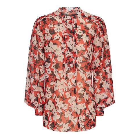 Reiss Red Provence Ikat Blouse