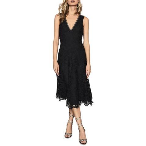 Reiss Black Barbara Lace Dress