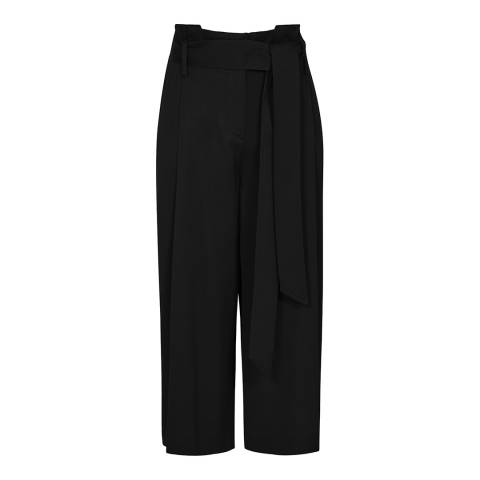 Reiss Black Ludlow Pleated Culottes