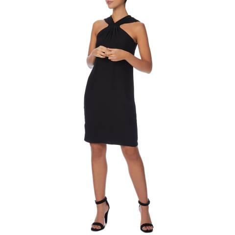 Reiss Black Hilda Mini Halter Dress