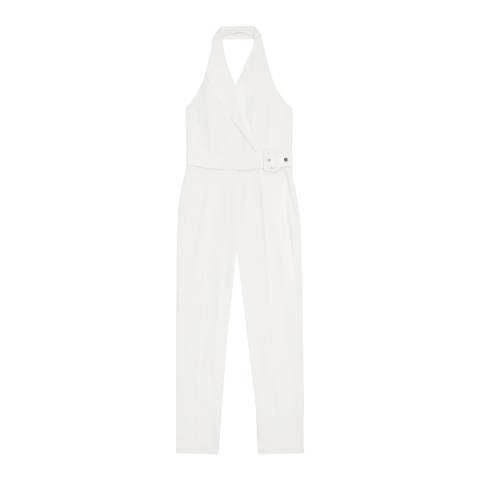 Reiss White Belinda Tux Jumpsuit