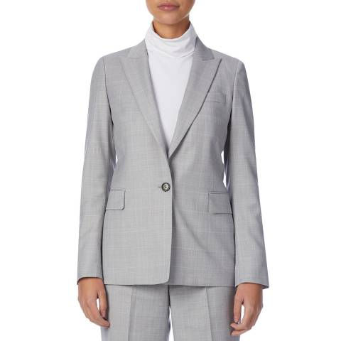 Reiss Grey/Pink Hailey Wool Jacket