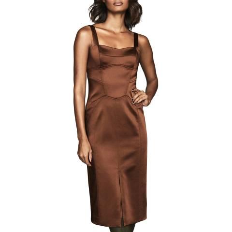 Reiss Bronze Madeleine Dress