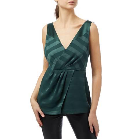 Reiss Green June Stripe Top