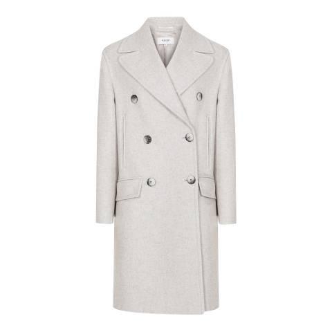 Reiss Grey Alyx Relaxed Wool Blend Coat