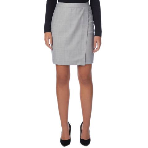 Reiss Grey/Pink Hailey Wool Skirt