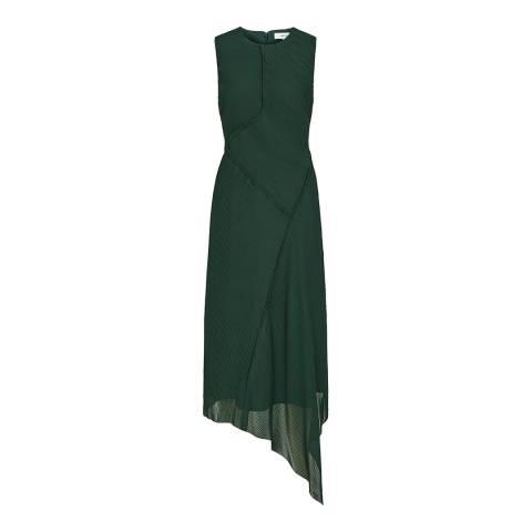 Reiss Dark Green Rhona Midi Dress