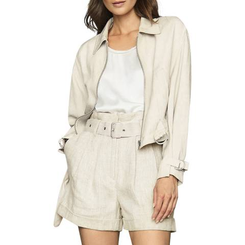Reiss Neutral Sia Zip Jacket