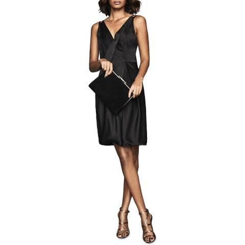 Reiss Black Nicole Bubble Hem Dress