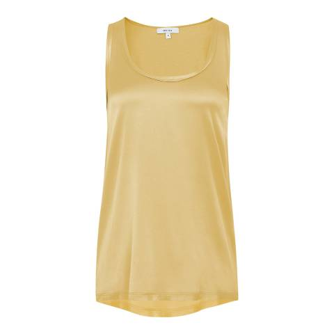 Reiss Yellow Remey Contrast Front Top