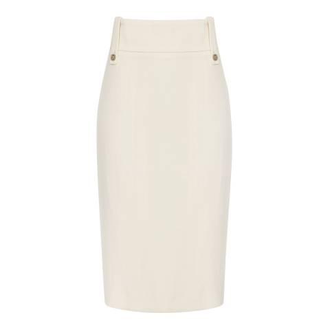 Reiss Off White Lennox Pencil Skirt