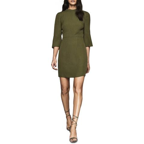 Reiss Khaki Cora Plain Shift Dress