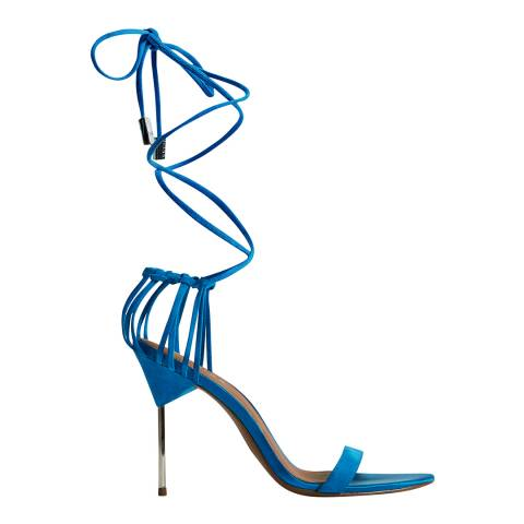 Reiss Blue Zhane Suede Strappy Sandals