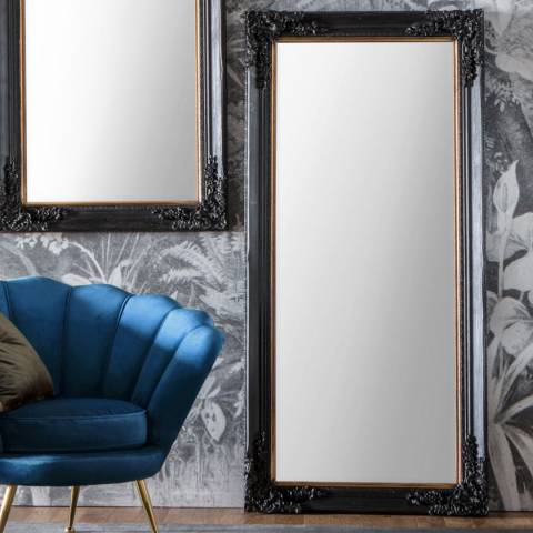 Gallery Harrelson Leaner Mirror Antique Black 148x61cm