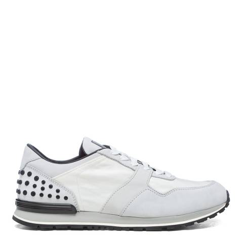 Tod's White Sporty Leather Sneakers