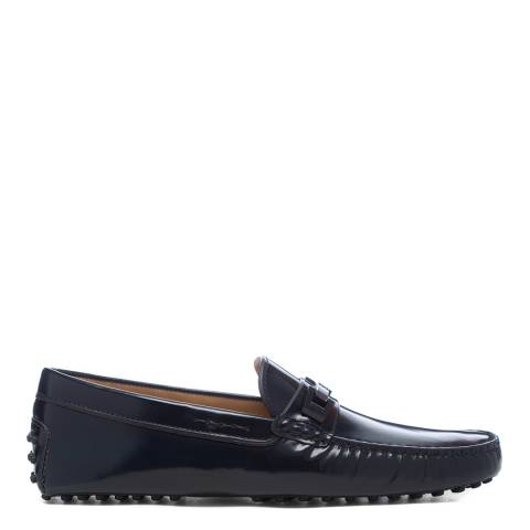 Tod's Navy Patent Gommini Driver Loafers