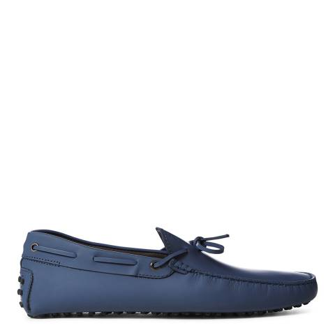 Tod's Blue Bow Leather Gommini Loafers