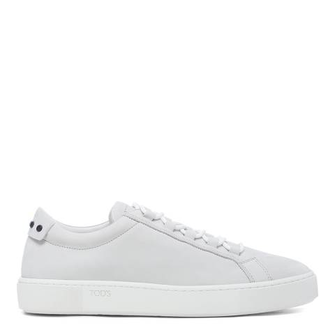 Tod's White Suede Lace Up Sneakers