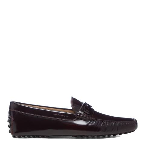 Tod's Black Leather Gommini Driver Loafers