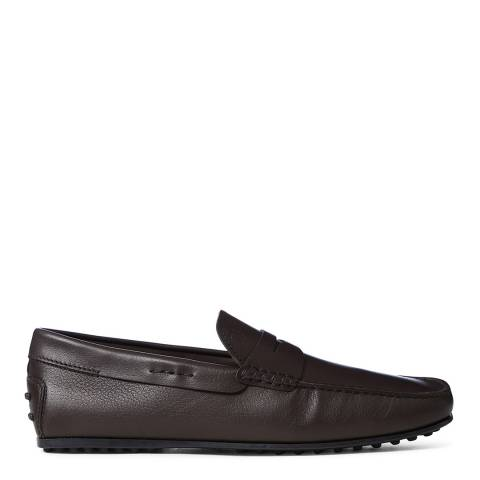 Tod's Black Leather Classic Gommini Loafers