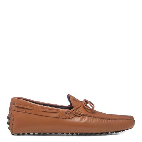 Tod's Brown Laccetto Leather Gommini Loafers