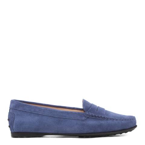 Tod's Blue Suede Driving Loafers