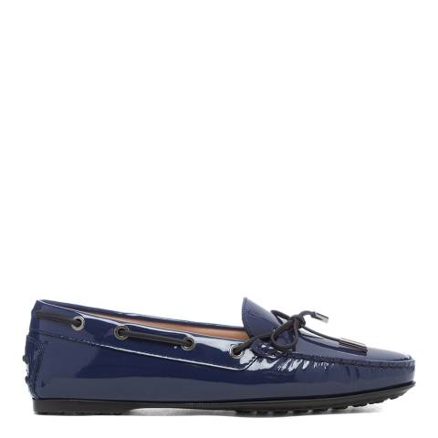 Tod's Navy Patent Leather Driving Loafers